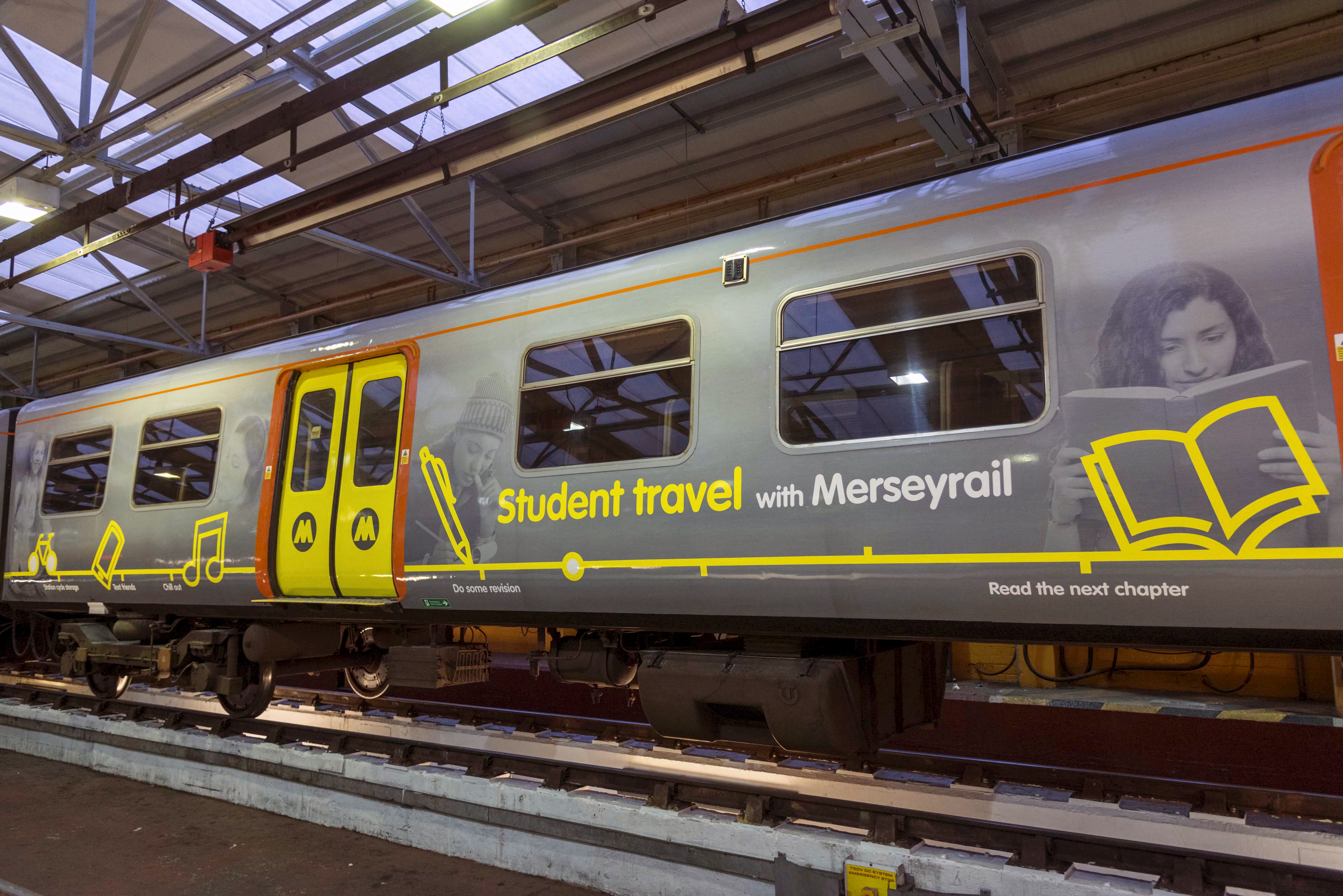 Merseyrail train wrap - student travel