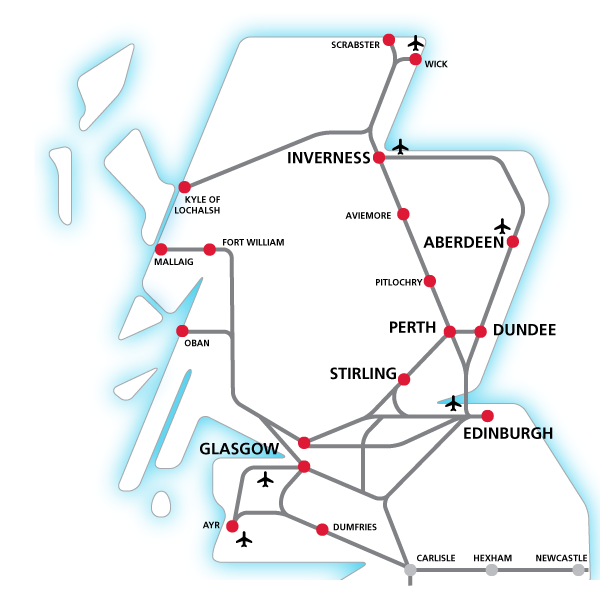 ScotRail network map