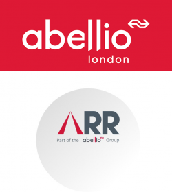 Abellio London and Abellio Rail Replacement logos