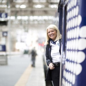 Our People ScotRail staff on train