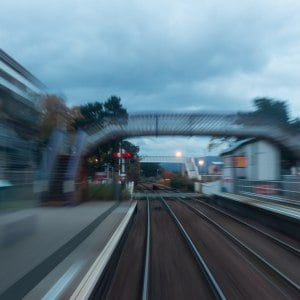 Train station blur