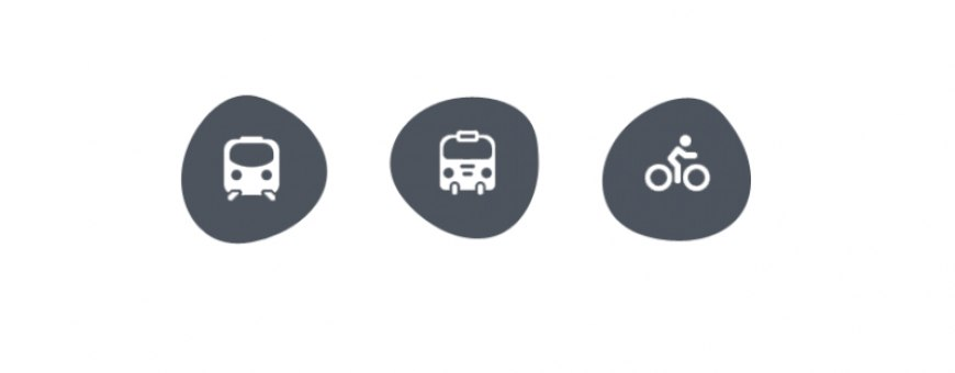 Abellio service icons train, bus and bicycle