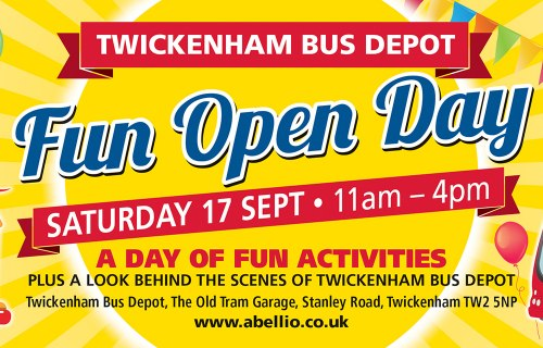 Twickenham open day Abellio London Surrey 2016