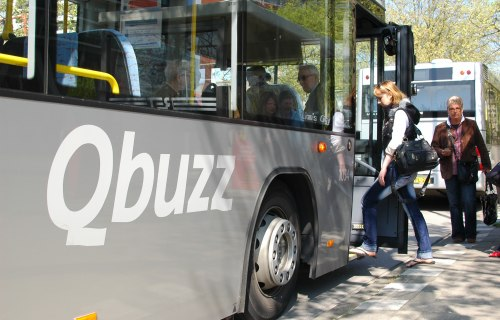 Qbuzz - Passengers getting on bus