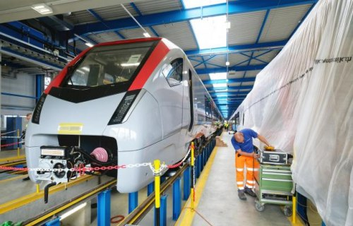 First stadler train