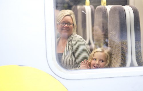 Merseyrail - Passengers on train
