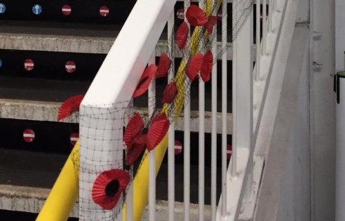 Greater Anglia staff lay wreaths to commemorate WW1 heroes