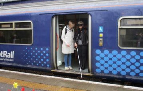 Student support workers train with ScotRail