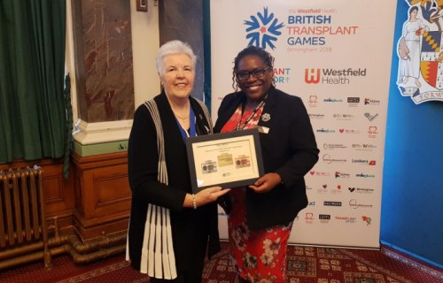West Midlands Railway awarded special recognition for supporting this year's British Transplant Games